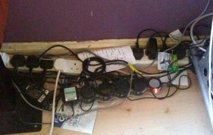 Overloaded power sockets are very dangerous